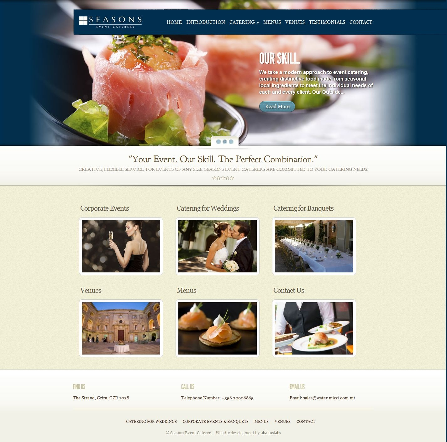 Seasons Events Caterers launch new web portal